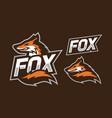 fox mascot logo design vector image