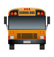 front of modern school bus mockup realistic style vector image