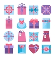 Gift And Present Box Set vector image vector image