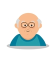 grandfather character member avatar vector image vector image