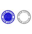 grunge spam letter scratched stamp seals vector image vector image