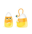 halloween cute candies corn jelly characters vector image