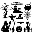 Halloween icons vector image vector image