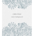 Hand drawn floral design Henna flowers vector image