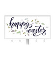 handwritten happy easter text with doodles vector image vector image