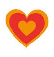 hearts love romance celebration decoration icon vector image