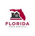 home rental logo in florida vector image vector image
