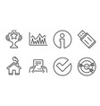 investment usb flash and verify icons receive vector image vector image