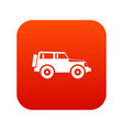 jeep icon digital red vector image
