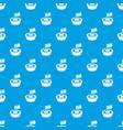 little flag pattern seamless blue vector image vector image