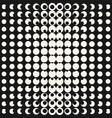 monochrome geometric halftone seamless pattern vector image