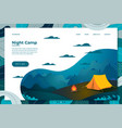 night summer camp forest vector image