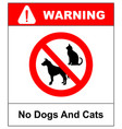 no pets allowed sign round red pets vector image vector image