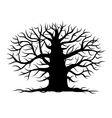 Old tree bare silhouette for your design vector image vector image