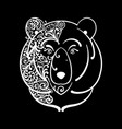 ornate bear face sketch for your design vector image vector image