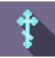 orthodox cross icon flat style vector image vector image