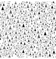 pattern christmas trees triangular shape on white vector image