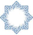 patterned octagonal star floral frame vector image vector image