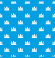 prince crown pattern seamless blue vector image vector image