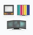 Retro Television Icons set vector image