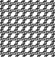 Seamless monochrome squared line pattern vector image vector image
