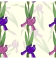 Seamless pattern with irises flowers vector image vector image