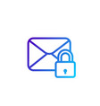 secure mail icon linear vector image