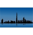 Silhouette of Dubai and reflections vector image vector image