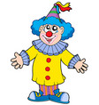 smiling clown vector image