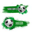 soccer team club football ball icon vector image vector image