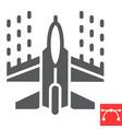 spaceship shooting glyph icon video games vector image vector image