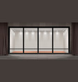 storefront empty illuminated showroom vector image