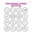 Universal linear icons set Thin outline signs vector image vector image