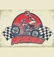vintage motocross design vector image