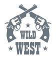 Wild west revolver logo simple style