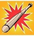 Wood baseball bat retro sports vector image vector image