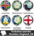 yorkshire and humber uk vector image