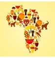 Africa seamless pattern vector image