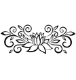 black and white abstract flower vector image