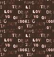 Sketch nice words pattern vector image