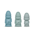 3d grandfather statues dol hareubang vector image