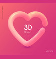 3d realistic heart design element vector image