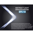 Abstract background with light arrow vector image vector image