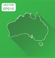 australia linear map icon business cartography vector image