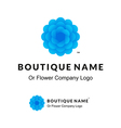Beautiful Logo with Blue Flower for Boutique or vector image vector image