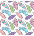 bird feathers seamless pattern vector image vector image