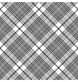 black and white check plaid seamless fabric vector image vector image