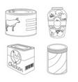 can and food symbol vector image vector image