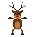 Christmas deer character flat design vector image vector image