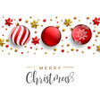 christmas red decoration layout greeting card vector image vector image